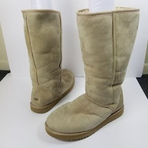Ugg Classic Tall Sheep Hair Boot Tan
